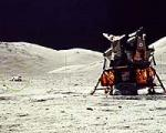 Apollo 17 lander on the Moon. Credits: NASA