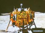 Chang'e-3 on the Moon. Credits: CNSA