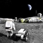 Artist impression of Moonbase. Credits: ESA