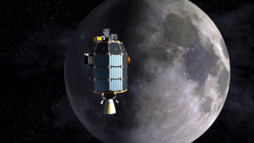 LADEE approaches lunar orbit. Credits: NASA