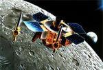 Lunar-A in orbit around the Moon. Credits: JAXA