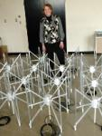 MIT prototype of a radio telescope array. Credits: MIT
