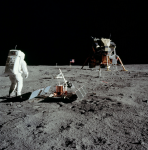 Apollo 11 and Buzz Aldrin on the surface of the Moon. Credits: NASA