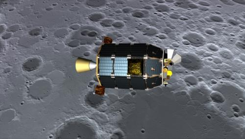 LADEE in lunar orbit. Credits: NASA