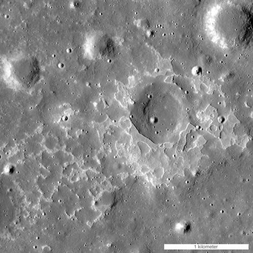 Volcanic deposit on the Moon. Credits: NASA, ASU