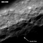 Moon south pole seen from LRO. Credits: NASA
