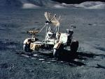 The Apollo 17 rover on the surface of the Moon. Credits: NASA