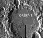 Oresme crater seen from Smart-1. Credits: ESA/Space-X